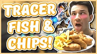 Overwatch - TRACER FISH AND CHIPS RECIPE (Chef You Wack)