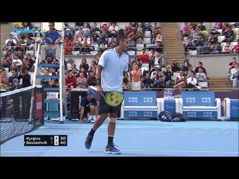 Nick Kyrgios wins point with cheeky tweener! | China Open Beijing 2017