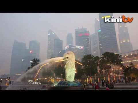 Haze hits Singapore and Muar, air pollution level peaks