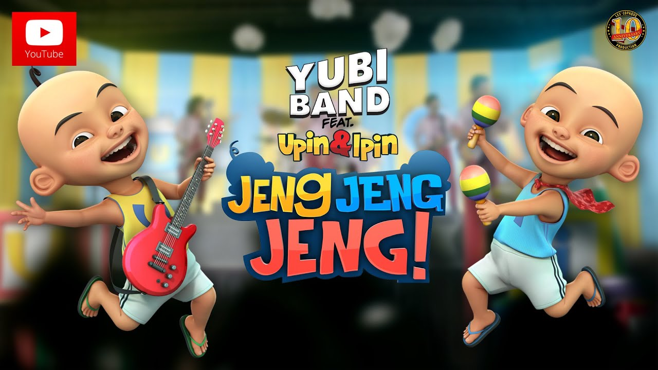Download Upin & Ipin Jeng, Jeng, Jeng! - Yubi Band feat. Upin & Ipin [Official Music Video]