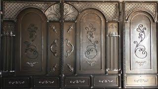 видео Металлические распашные ворота для дачи