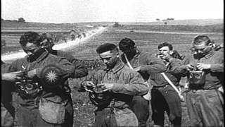American Expeditionary Forces undergo training in France, during World War I HD Stock Footage