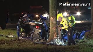 Auto doormidden na ongeval bij Hoogezand