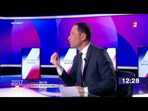 """Benoît Hamon dans """"15 minutes pour convaincre"""" sur France 2"""