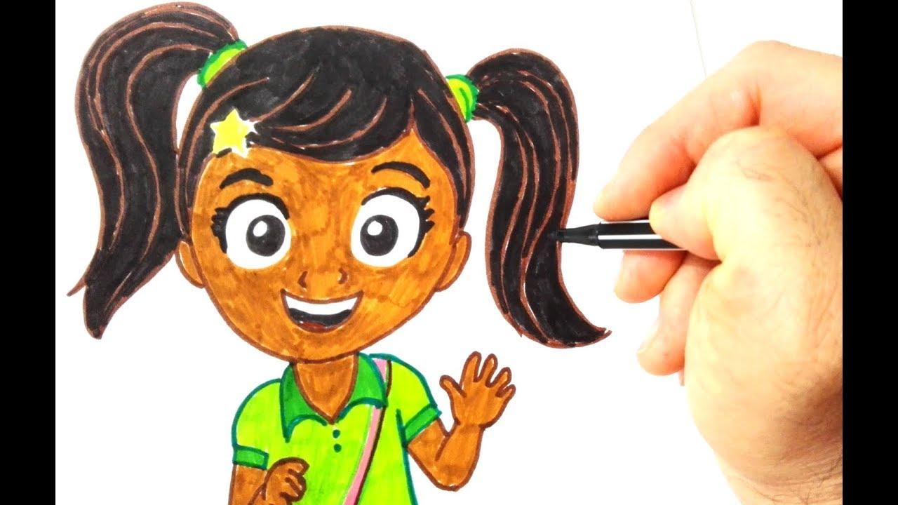 Drawing ninas world coloring page