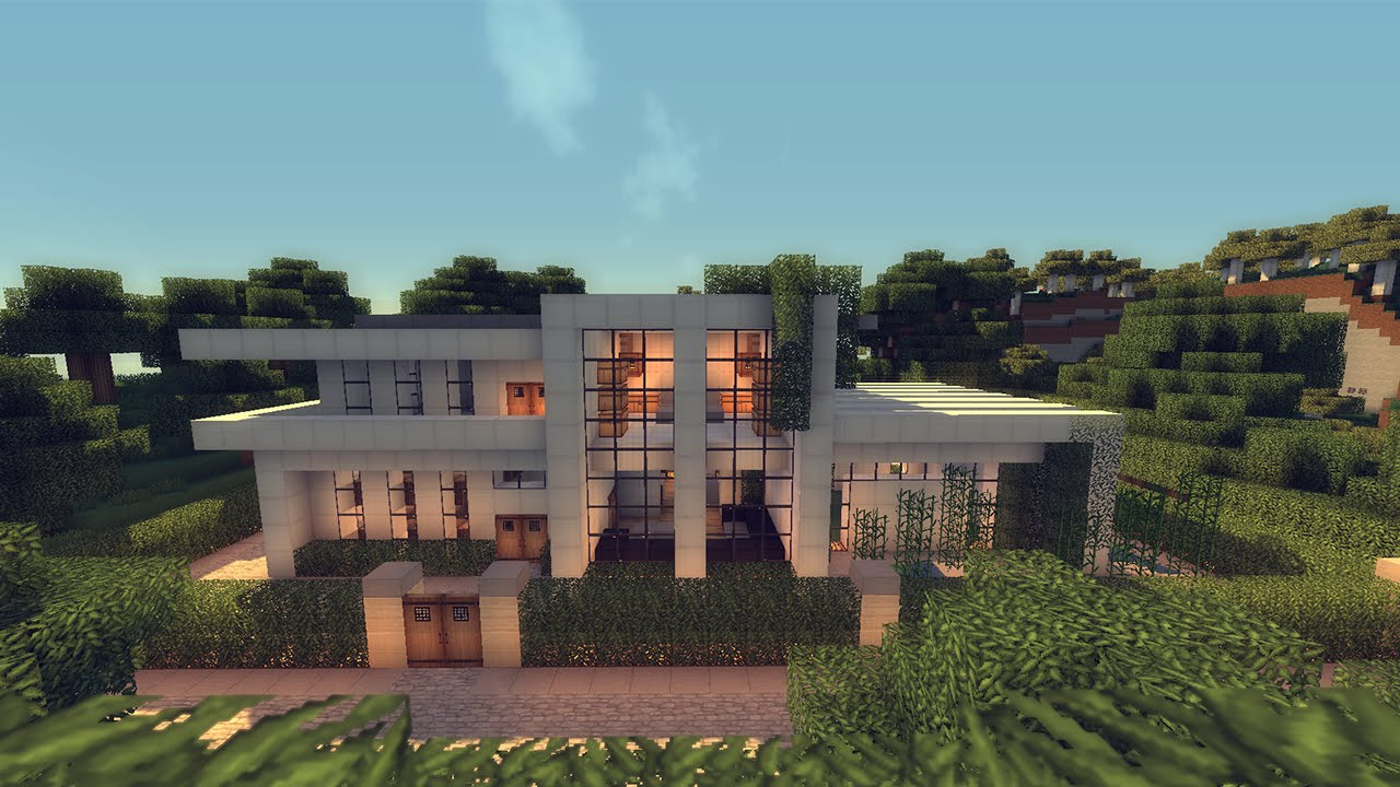 Minecraft Modern Wool House YouTube