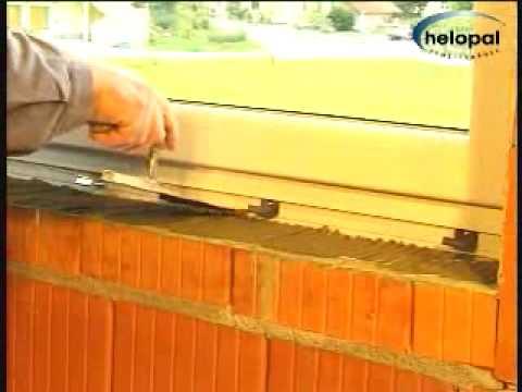 Montagevideo helopal Innenfensterbank mit Mörtelbett - YouTube