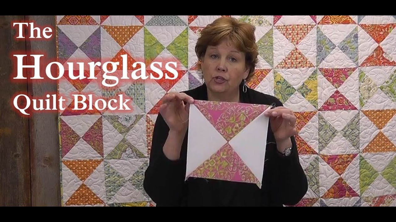 The Hourglass Quilt Block Learn To Quilt Youtube