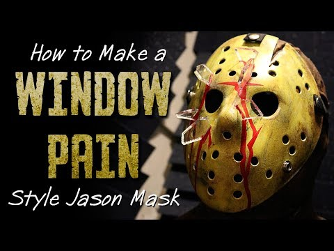 """How to Make a """"Window Pain"""" Style Jason Mask - Friday The 13th DIY"""