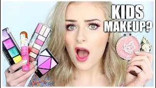 FULL FACE USING ONLY KIDS MAKEUP Challenge // Sally Jo