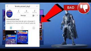 What happens when you buy RARE Fortnite Accounts.. (DON'T DO IT)