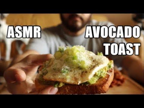 Asmr Avocado Toast Fried Eggs Crispy Bacon Eating Sounds No Talking