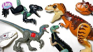 9 Dangerous Lego Dinosaurs Jurassic World Hybrid Toys for Kids! Learn Dinosaur Names