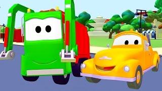 Camion della Spazzatura e Tom il Carro Attrezzi in Car City | Cartone animato di Auto & Camion