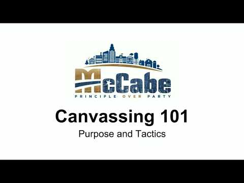 Canvassing 101 Purpose and Tactics