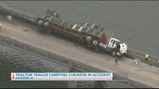 Fatal accident involving truck carrying chickens
