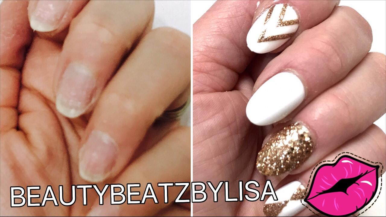 HOW TO APPLY FAKE NAILS   DIY EASY TUTORIAL -beautybeatzbylisa - YouTube