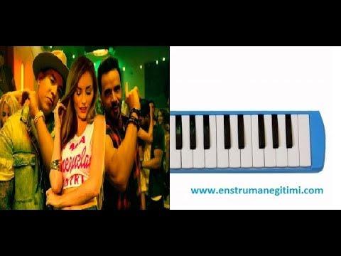 Luis Fonsi Despacito ft. Daddy Yankee Melodika Notalı