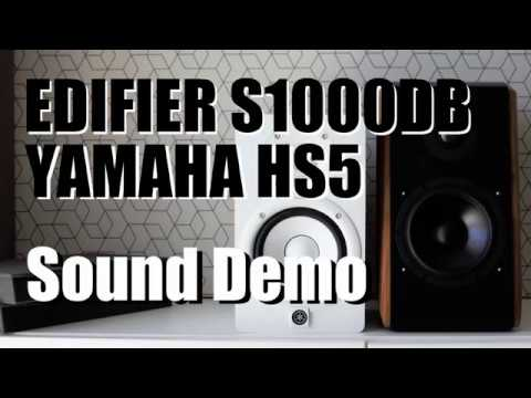 Edifier s1000db vs yamaha hs5 sound demo w bass test for Yamaha hs5 no bass
