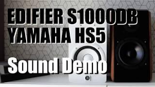 Edifier S1000DB vs Yamaha HS5  ||  Sound Demo w/ Bass Test