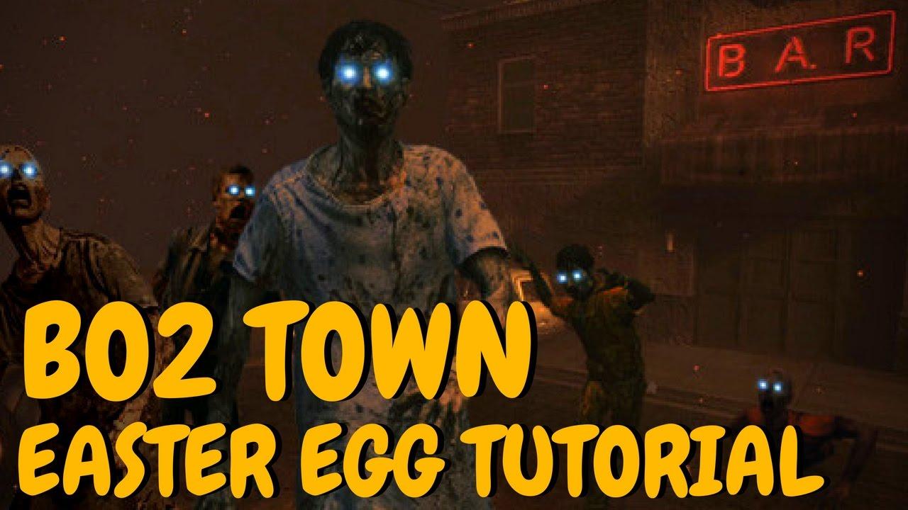 Black Ops 2 Town - Easter Egg Tutorial ( WAW Custom Zombies )