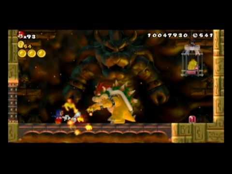 New Super Mario bros Wii - Last Level with Penguin Mario