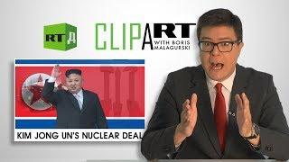 ClipArt with Boris Malagurski. 'Libyan Denuclearization Model' for North Korea's Kim Jong Un