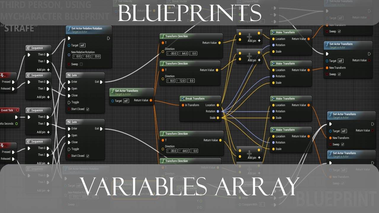 Unreal engine 4 blueprints variables array youtube unreal engine 4 blueprints variables array malvernweather Image collections