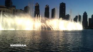 Dhoom Tana on Dancing Dubai Fountain HD 1080p By khurram Javaid