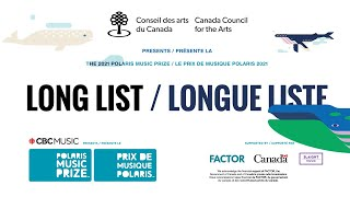 2021 Polaris Music Prize Long List Reveal
