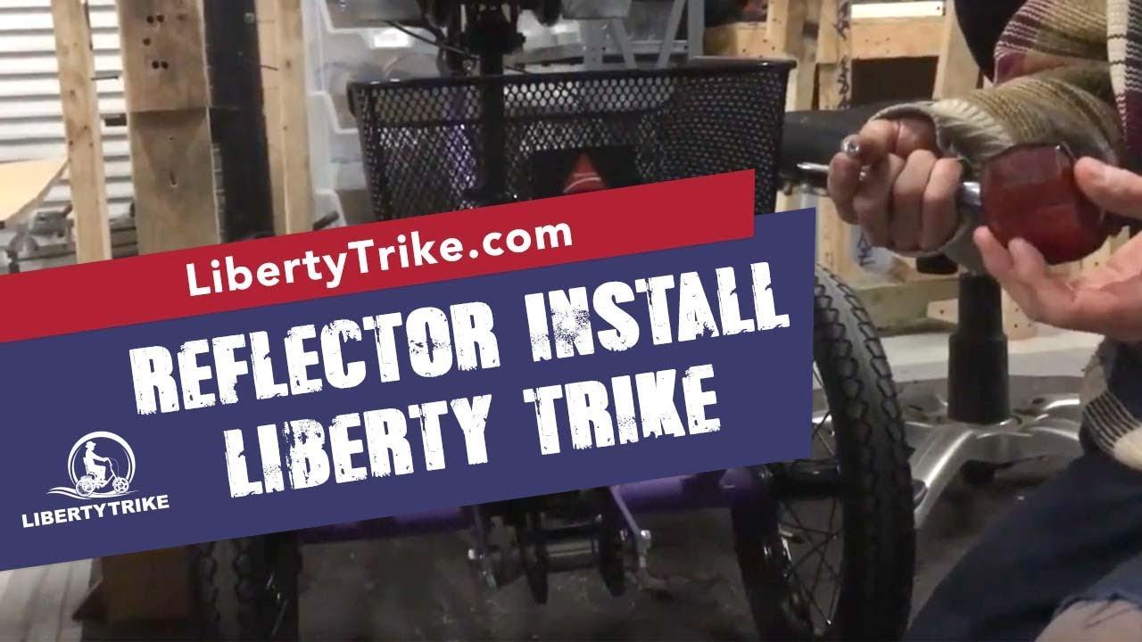 Liberty trike mesh basket rear red reflector installation