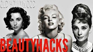 9 Old Hollywood Stars BEAUTY HACKS | Marilyn Monroe, Audrey Hepburn + MORE!