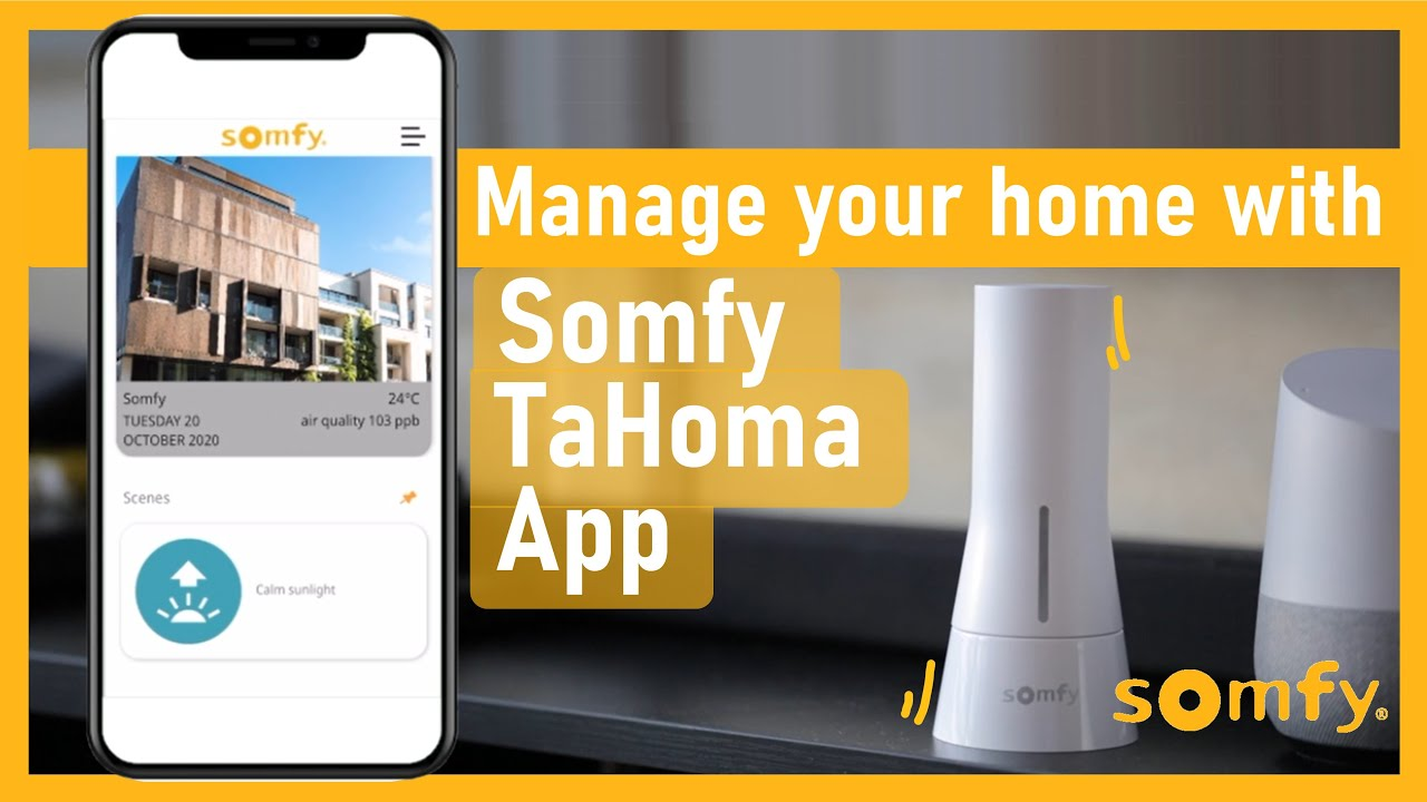 Manage your home w/ Somfy TaHoma App | Blind, curtain, light, AirCon | Control via Google Assistant