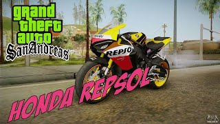 Moto Honda Repsol do piloto Valentino Rossi para GTA San Andreas - MotoGP