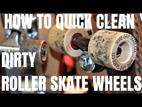 HOW TO QUICK CLEAN DIRTY ROLLER SKATE WHEELS