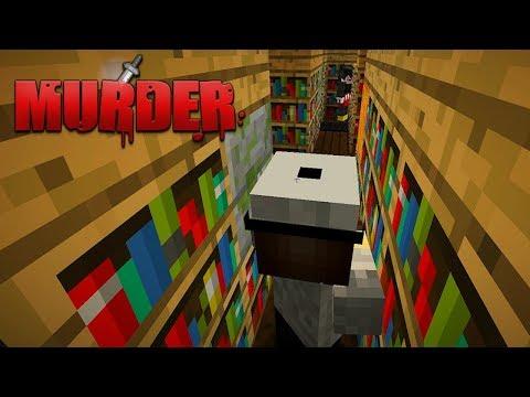 Minecraft: MURDER - MEU AMIGO VIROU O SR PEDRO AO VIVO !!!