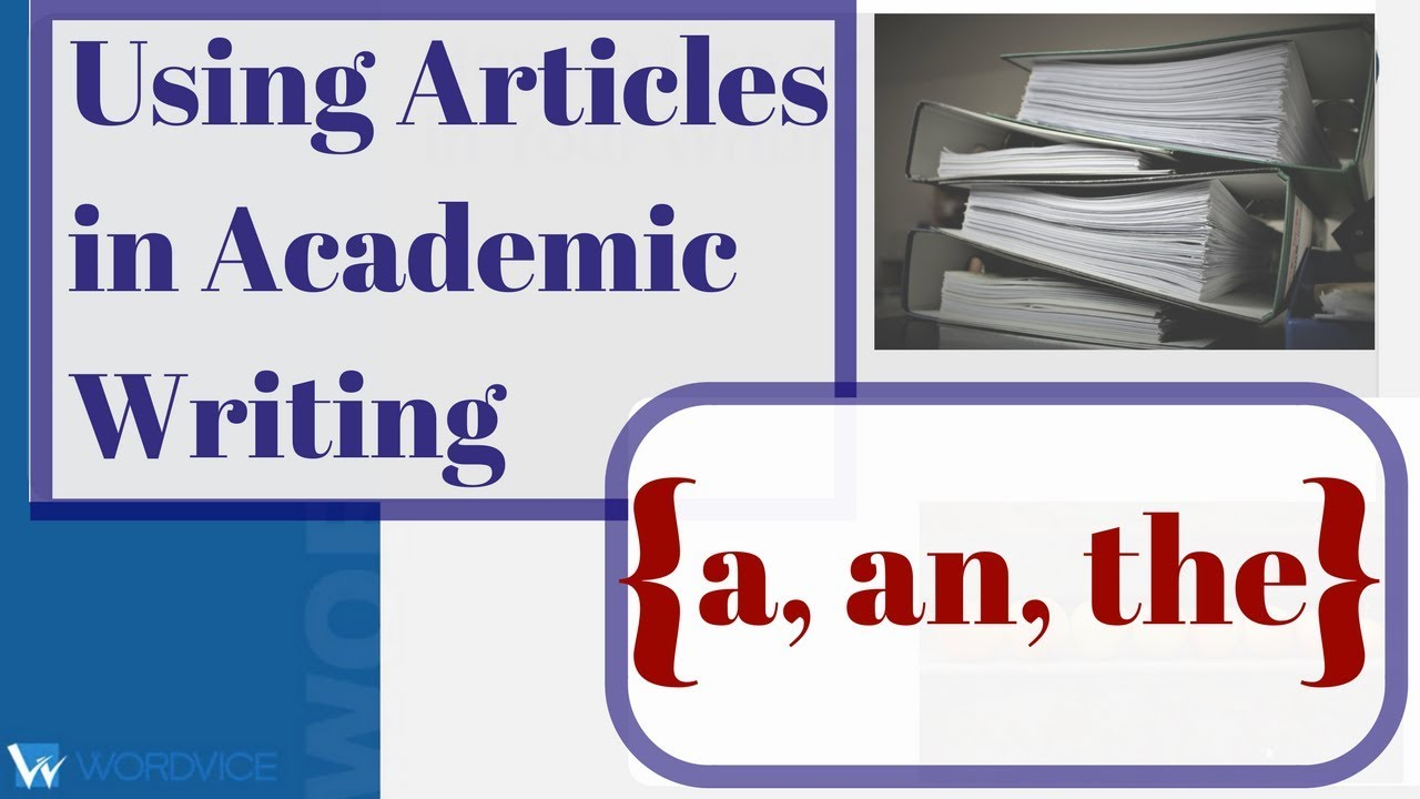 articles in writing