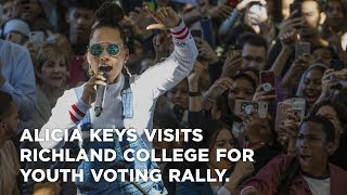 Alicia Keys visits Richland College for youth voting rally