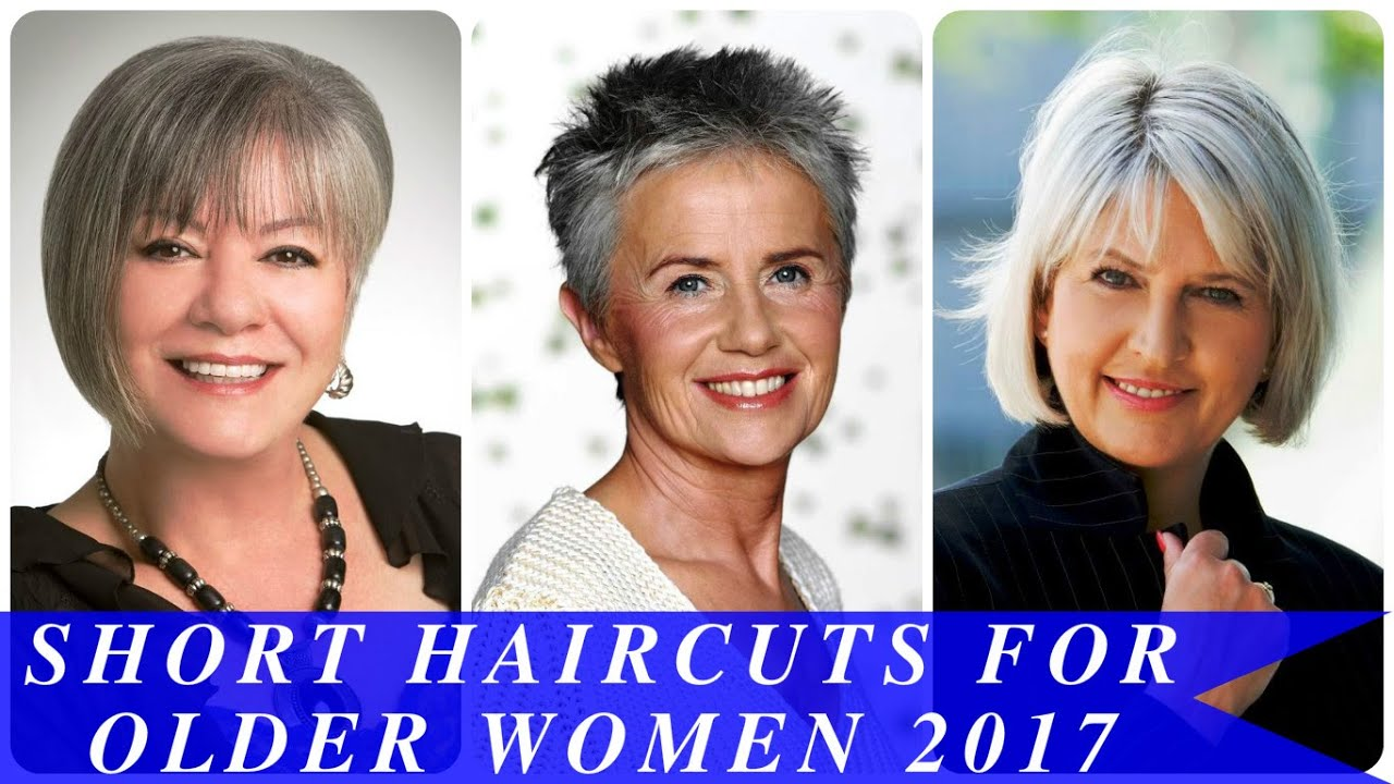 Short Haircuts For Older Women 2017