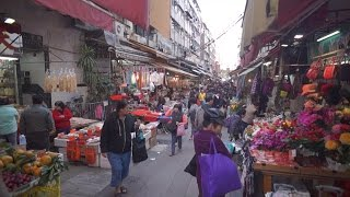 Walking tour Tai Po Market in Luna New Year Eve Hong Kong 香港 大埔墟 除夕日