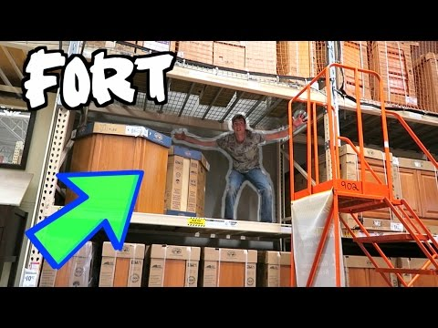 LEGENDARY FORT IN HOME DEPOT RAFTERS!