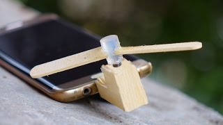 How to Make a Wooden Micro USB OTG Fan for Mobile / SmartPhone