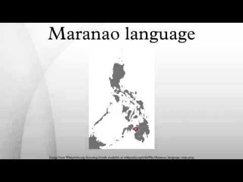Maranao language