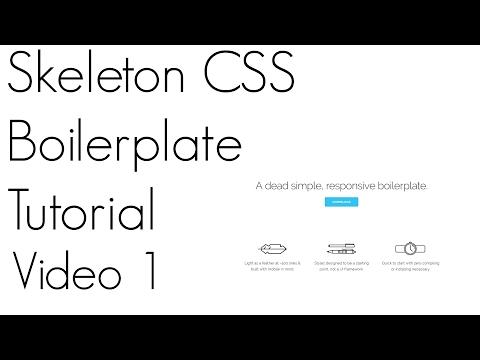 Skeleton CSS Tutorial ~ Video 1