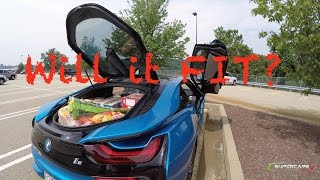 BMW i8: Will it FIT? Food Shopping for YouTUBERS [4K UHD]