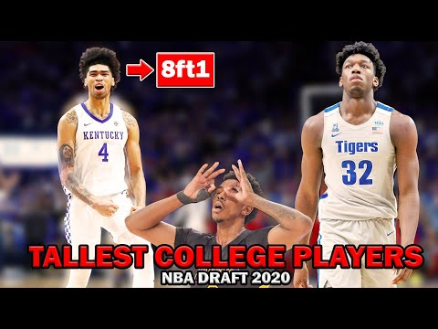 nba-investigated--tallest-colllege-players-in-the-nba-draft-2020.-nba-season-2020---2021