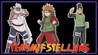 Naruto Online - Teamaufstellung - Nachtklinge - Iruka/Choji NK/Killer Bee
