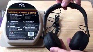 Rebel BT House of Marley Wireless On-Ear Headphones Unboxing 5-20-16