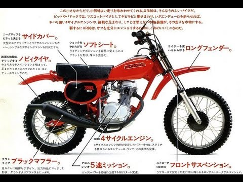 Honda Mini XR's Pamphlet XR80 XR75 XR100 XR80R XR100R Z50R ...