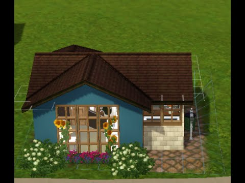 Sims 3 tiny house build starter house youtube for Small starter homes